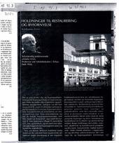 Thumb holdninger til restaurering og byfornyelse